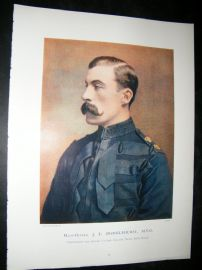 Maj-Gen J.F Brocklehurst 1900 Military Portrait Print. Boer War